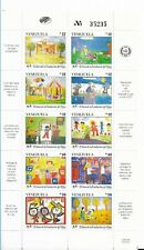 VENEZUELA 1991 CHILDREN FOUNDATION MINIATURE SHEET 10 VALUES MINT NH VF