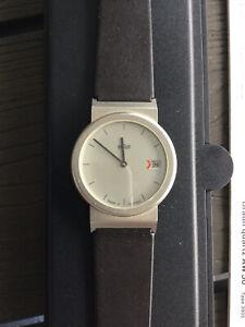 Braun Armbanduhr AW50 Platin 3805 mit neuen Armband und Batterie im Etui
