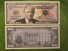 President DONALD TRUMP 2016 Victory Note ~*~ $1,000,000 One Million Dollar Bill