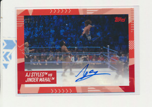 2021 Topps WWE On Demand Best of British Auto A.J Styles  /10