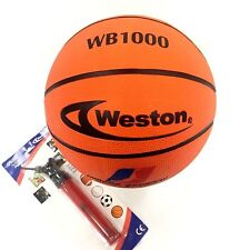 Weston Wb1000 Basketball with manual pump in / out size 29.5""
