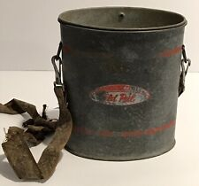 Vintage OLD PAL Metal Tackle Fishing Minnow Bait Lititz PA Woodstream USA Pail