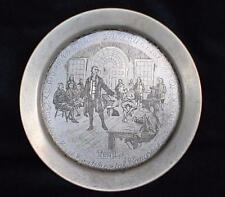 24kt Gold on Solid Sterling Silver American First Continental Congress plate DM