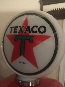 Texaco Vintage Gas Glass Globe