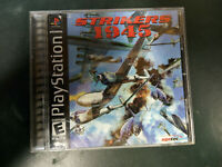 Playstation PS1 Strikers 1945 Rare Video Game Tested working black label  Tested