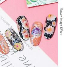 16x Spitze Nail Art Transfer Folien holographische Blumen Designs Nagel Aufklebe