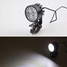 12W Motorcycle E-bike Led Head Light 12V-60V Modified Spot Fog Headlight Bracket