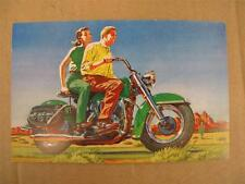 NEW NOS 1954 Harley Davidson Fl Duo Glide Christmas Post Card **RARE** MS4