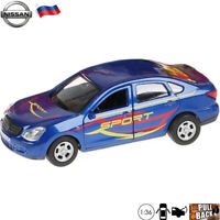 Diecast Car Scale 1:36 Nissan Almera Sport Russian Model Toy Cars