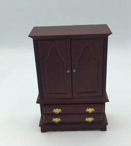 Dolls House Wardrobe With Drawers