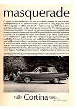 1965 FORD CORTINA GT  ~  NICE ORIGINAL PRINT AD