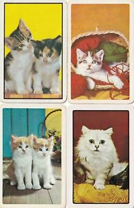 Swap Playing Cards x 4 Cats
