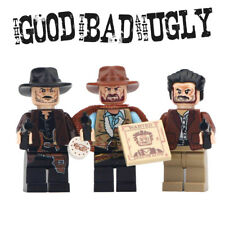 The Good Bad Ugly -  Cowboy Wild West Lego Moc Minifigure Gift For Kids [3 Pack]