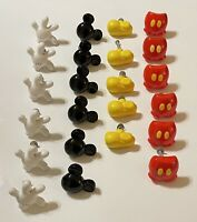 Disney Mickey Mouse Lot of 23 Ceramic Knobs Gloves Head Shoes Pants Handles EUC