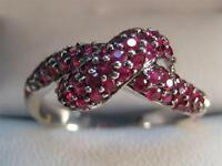 ESTATE GORGEOUS 2.5 CT 14KT WHITE GOLD RUBELLITE TOURMALINE RING Sale 100.00 off