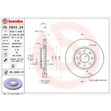 Bremsscheibe (2 Stück) COATED DISC LINE - Brembo 09.5843.31