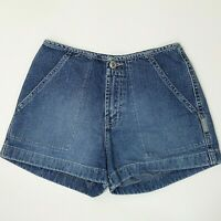 Silver Jeans Denim Shorts Size 26 Womens Blue Flap Pockets  Cotton Canada Made