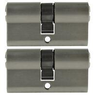2x Profilzylinder 70mm 35/35 10x Schlüssel Tür Zylinder Schloss gleichschließend
