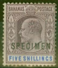 Bahamas 1902 5s Dull Purple & Blue Specimen SG69s Fine Lightly Mtd Mint