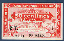 ALGERIE - 50 centimes - Pick n° 100 de 1944 en NEUF 2T Série I1 N° 933,011