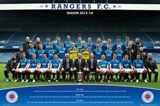 SOCCER POSTER Rangers Football Club Team Photo 2013 2014 36x24 Poster Service