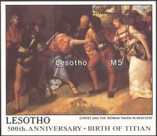 Lesotho 1988 Christmas/Greetings/Titian/Art/Artists/Paintings 1v m/s (n16381)
