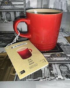 ☕️Le Creuset Stoneware 350ml / 0.35L Chilli Red Cappuccino Coffee Cup Mug ☕️