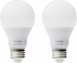 2 Pack Philips Hue A19 Dimmable Smart Bulbs Works with Alexa, HomeKit & Google