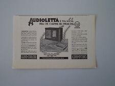 advertising Pubblicità 1934 RADIO CGE AUDIOLETTA