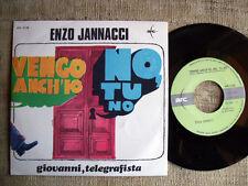Enzo Iannacci - vengo anch'io.no,tu no / Giovanni telegrafista   45 originale