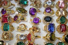 New Wholesale lots 5pcs various colorful Imitation zircon charming lady's rings