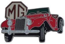 MG TF car cut out lapel pin  - Red body
