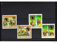 1014++GUINEE   SERIE TIMBRES  ANIMAUX SAUVAGES N°2