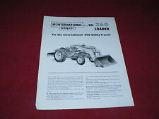 International Harvester Wagner 260 Loader For 460 Tractor Dealer's Brochure
