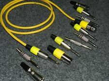 XLR macho > Conector Mono Extensión Cable Largo 15m Amarillo
