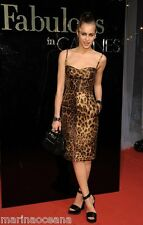 NWT DOLCE & GABBANA POPULAR ICONIC LEOPARD PRINT DRESS MADE IN ITALY SIZE 36 XS