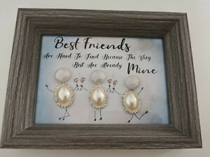 Friend Framed Pebble Art Picture Gift