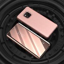 Para Samsung Galaxy J4 Plus J415f transparente ver Smart funda fucsia estuche