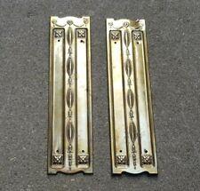 More details for vintage brass art nouveau architectural salvage reclaimed door finger plates