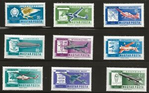 Hungary  (1962)  - Scott #  C210 - C218,  MNH