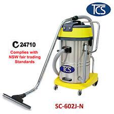TCS Commercial 60L Wet & Dry Vacuum Cleaner 2000W (2 Ametek Motors) SC-602J-N