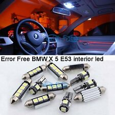 White Interior LED Bulb Light Package full Kit For 2000-2006 BMW X 5 E53 M+Tool