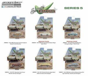 Estate Wagons Series 5 Set 6 Piece Complete 1:64 Greenlight 29990