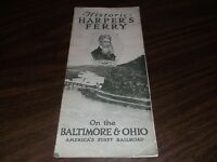 BALTIMORE & OHIO RAILROAD HISTORIC HARPER'S FERRY, WV BROCHURE