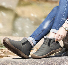 Winter Men Warm Snow Boots Casual Water Proof High Top Cotton Shoes Ankle Boots