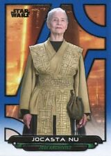 Star Wars Galactic Files Reborn Blue Parallel Base Card AOTC-13 Jocasta Nu