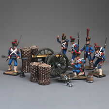 Tin soldier, A set of French field artillery, Napoleonic wars, 54 mm