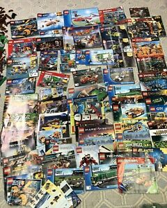 LEGO Instruction Manuals-75+ of various themes