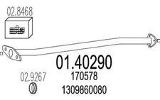 MTS Tubo de escape CITROEN JUMPER PEUGEOT BOXER FIAT DUCATO 01.40290