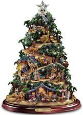 New ListingThomas Kinkade Illuminated Musical Tabletop Nativity Tree